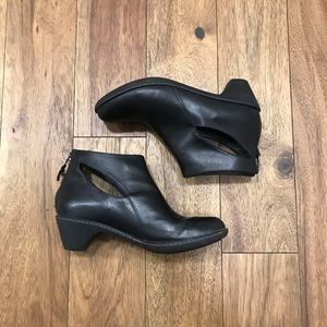 Dansko Bonita black leather ankle boots